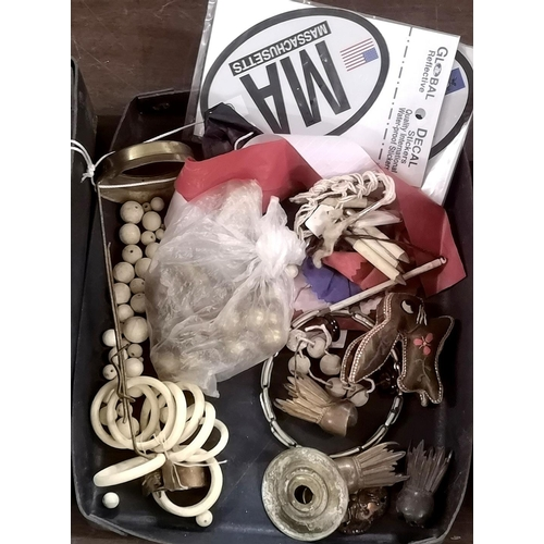 40 - 3 x boxes of assorted antique and vintage nick nacks...