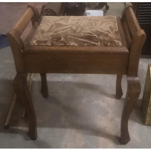 313 - Victorian mahogany piano stool...