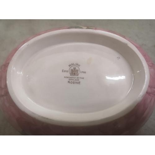 50 - 25.5 x 19 x 9 cm tall Maling 'Rosine' lustre glazed bowl...