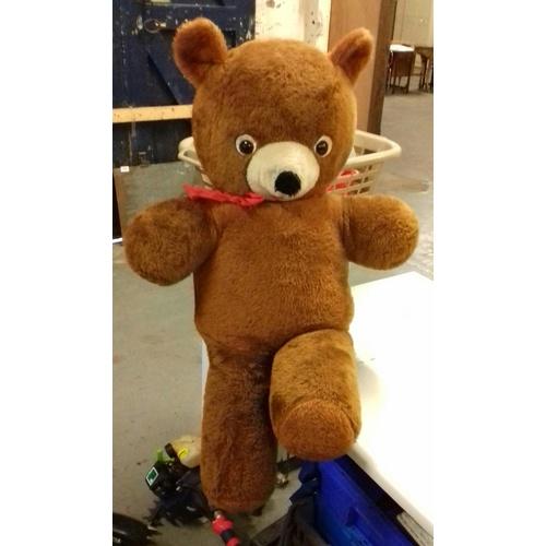 59 - Approx 100 cm tall retro teddy bear cuddly toy...