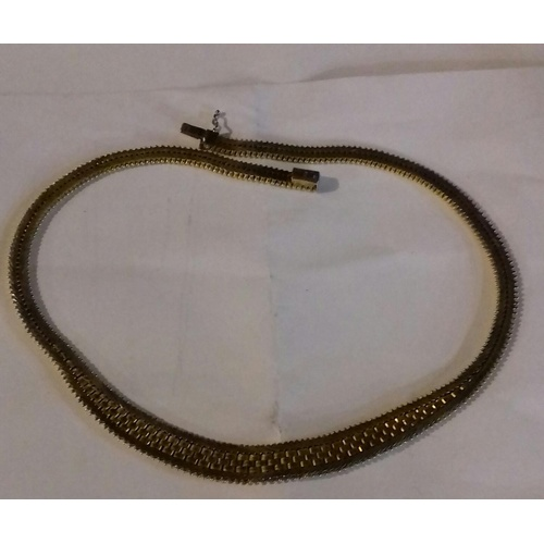 37 - 835 stamped 20 carat gold plate on silver dressy necklace...