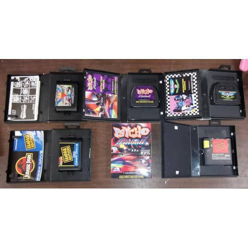 35 - Sony Mega Drive bundle of 2 x pink controllers, 5 x boxed and 1 x loose games...