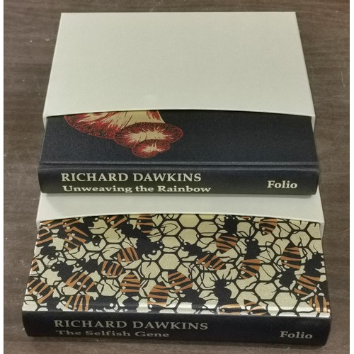 3 - 2 x As new Folio Society Richard Dawkins hard back books with outer box cover being 2009 unweaving t...