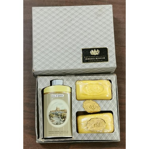17 - Vintage Roberts Windsor - Otto of Jasmine - talc and soap gift set...