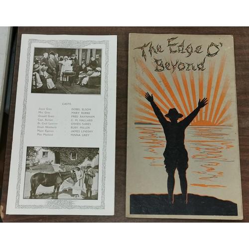 20 - 1919 The Edge 'o' Beyond silent movie original programme...