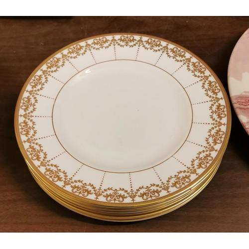 26 - Set of 6 x 23 cm diameter Waterford china 'Harcourt' plates...