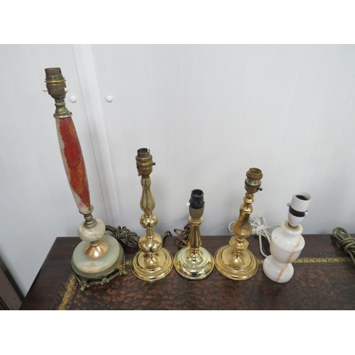 16 - Lamp Bases X 5 For Upcycling Display ETC...
