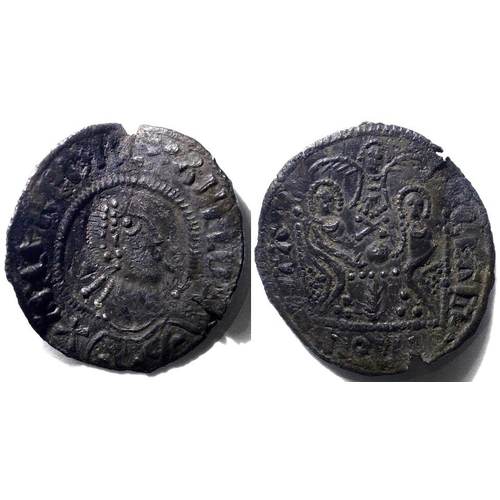 141 - Alfred the Great 871-899 A very rare silver penny? Depicting 2 seated figures below a dove...