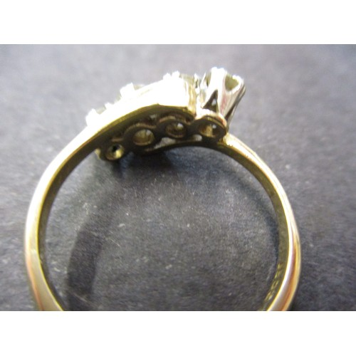15 - A vintage 18ct gold and platinum 4 stone diamond ring, approx. ring size K