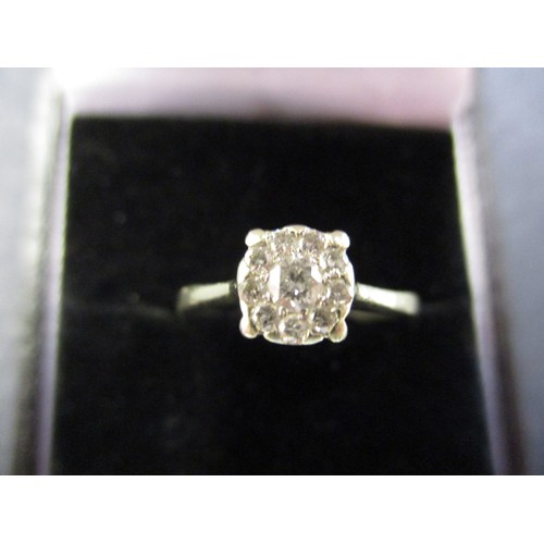 21 - A 9ct gold and diamond ring ,approx. ring size L