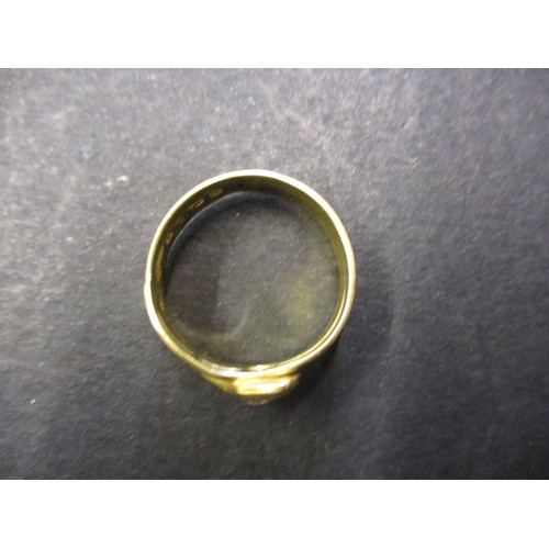 32 - An 18ct yellow gold solitaire diamond ring, approx. ring size R approx. weight 5.6g