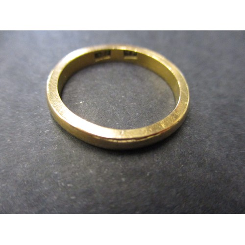 54 - A 22ct yellow gold wedding band, approx. weight 5.7g,