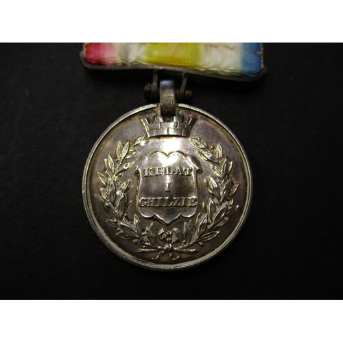 205 - The first Anglo-Afghan war 1842 medal for the defence of Kelat-I-Ghilzie to Gunner James Clarke 4th ...