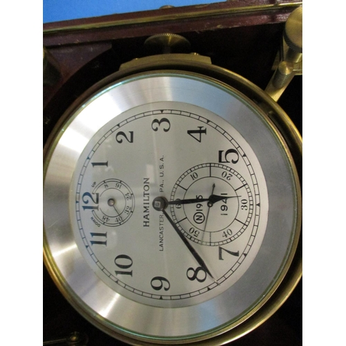 208 - A 1941 Hamilton watch Co Ministry of defence marine chronometer...