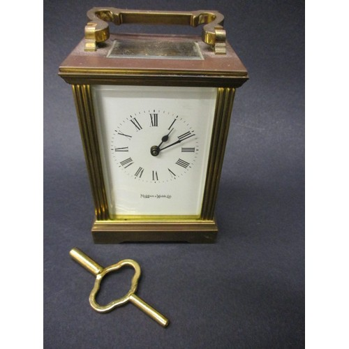 A vintage Mappin & Webb 5 glass carriage clock