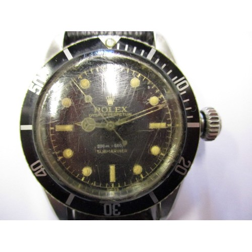 A vintage Rolex oyster perpetual Submariner, approx. dial diameter 30mm marked 6538