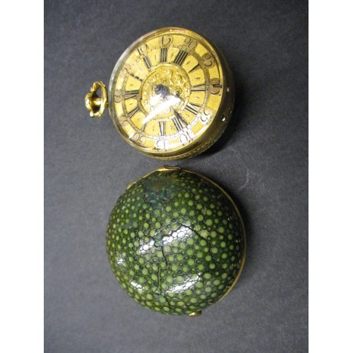 55 - Daniel Quare, London: A very fine gold  repeating pair cased fusee pocket watch circa 1710. Watch No...