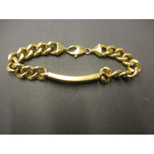 47 - An 18ct yellow gold identity bracelet, approx. weight 36.2g approx. linear length 23cm with working ...