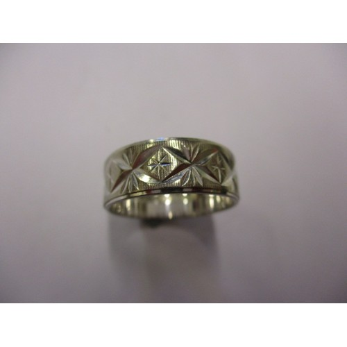 16 - A white gold ring marked for 18ct, approx. weight 4.9g approx. ring size 'N' in vintage pre-owned co...