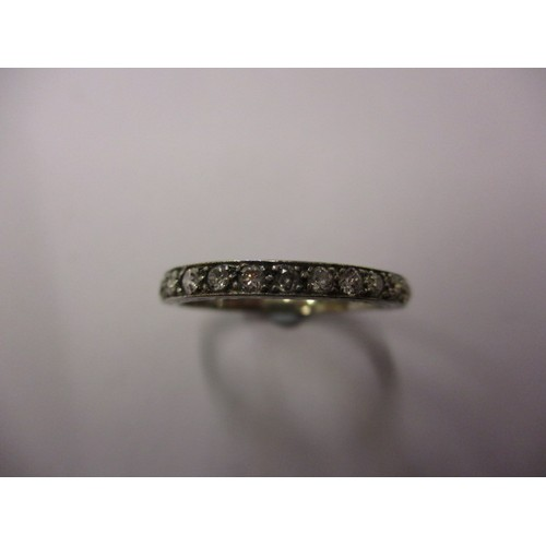17 - An 18ct white gold and diamond half eternity ring, approx. ring size M approx. weight 2.6g in good p...