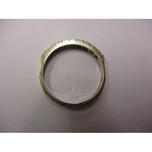 19 - An 18ct white gold and diamond half eternity ring, approx. ring size 'M' approx. weight 2.1g in good...