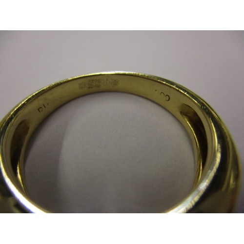 20 - An 18ct yellow gold and diamond dress ring, approx. ring size O1/2, approx. weight 6.4g, set with 2 ...