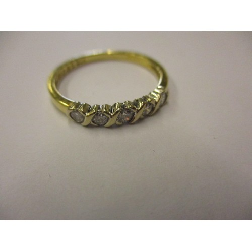 23 - An 18ct yellow gold 5 stone diamond ring, approx. ring size 'P1/2' approx. weight 2.3g in good pre-o...