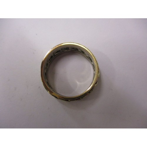 43 - A 9ct gold band, approx. weight 4.8g approx. ring size 'O' in pre-owned condition with general age r...