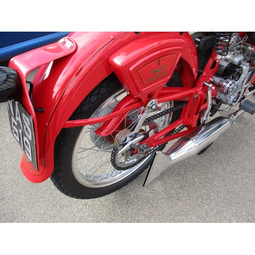 1 - A 1949 Moto Guzzi Airone 250cc motorbike, in fully restored condition and being road legal with V5, ...