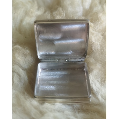 3 - Silver, 925 Marked, Pill Box with Picture of Gun Dog on the Lid...