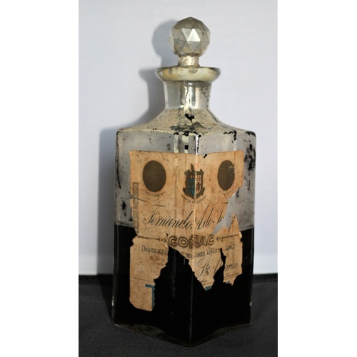 8 - Antique unopened and wax sealed bottle of Fernando A. Terry cognac brandy dating back to 1900 - 1910...