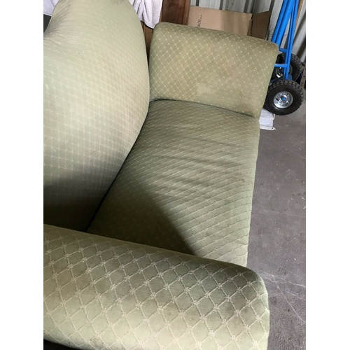 42 - Edwardian Drop End Sofa and Matching Twin Chairs Suite  Edwardian Drop End Sofa Suite. Pale Green in...