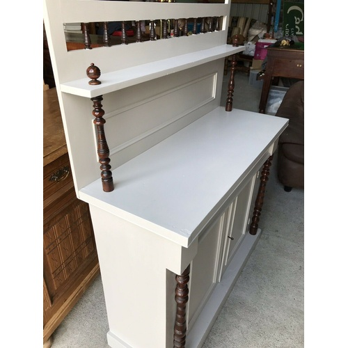 46 - Antique Painted Sideboard / Chiffonier  Painted with Farrow and Ball quality paint -  Elephants Brea...