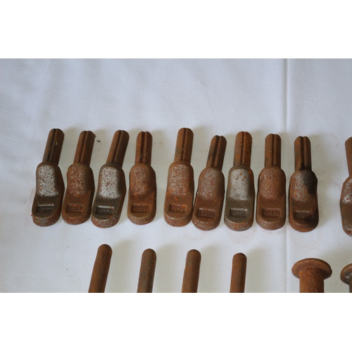 51 - Collection of 27 Vintage Heavy Metal Gate Hooks...