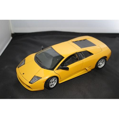 67 - 1:18 Die Cast Scale Model by Maisto of the Iconic Lamborghini Murchielago in Yellow....