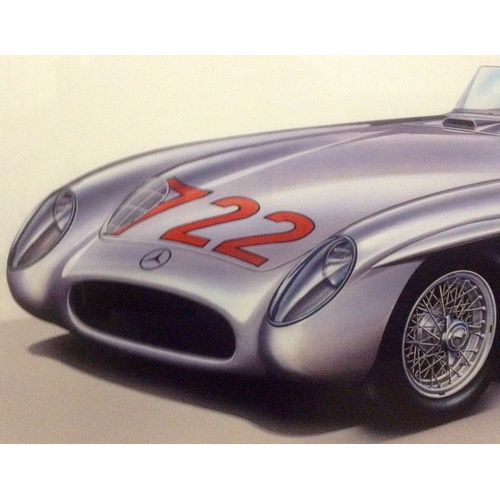 72 - Very Rare Signed Print, Number: 9/850 by Stirling Moss, Denis Jenkinson & Artist. Certificate of Aut...