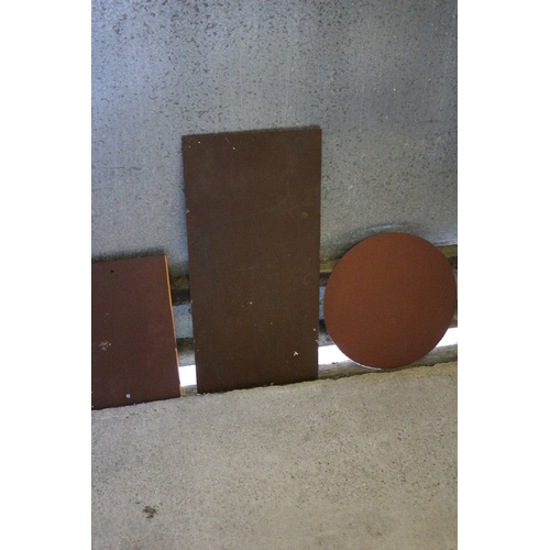 77 - Collection of 3 Mirror Paynes. One has drilled holes for placing on a wall or cupboard....