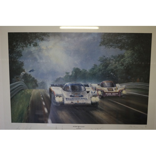 85 - Very Rarely Available - Limited Edition Print of the 1987 Le Mans 24hr Race Winning Team - 'Putting ...