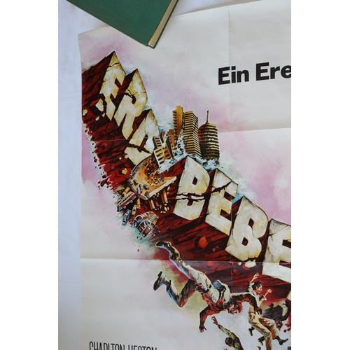 125 - Rare German Movie Poster - Earthquake - 1974...