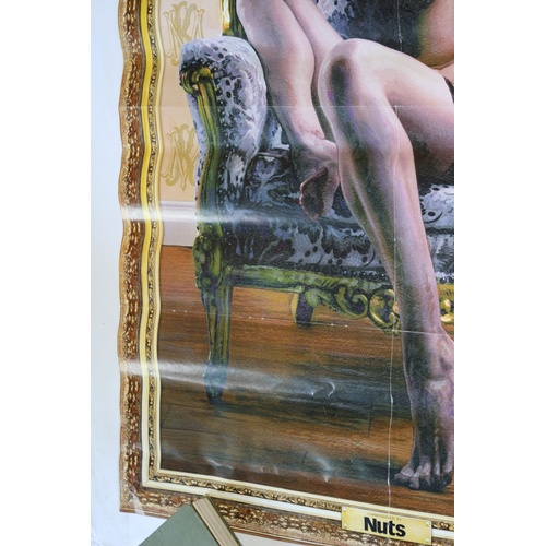 153 - Slightly Controversial Double Sided Poster - Nuts Magazine of Kate Middleton & Bare Chested Lucy Pin...