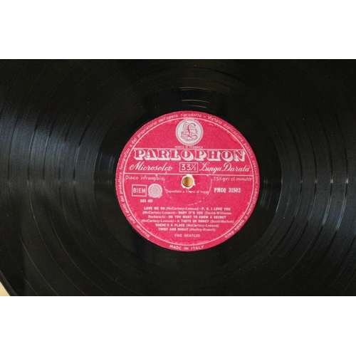 166 - Rare The Beatles Italian Red Label Album - PMCQ 31502...