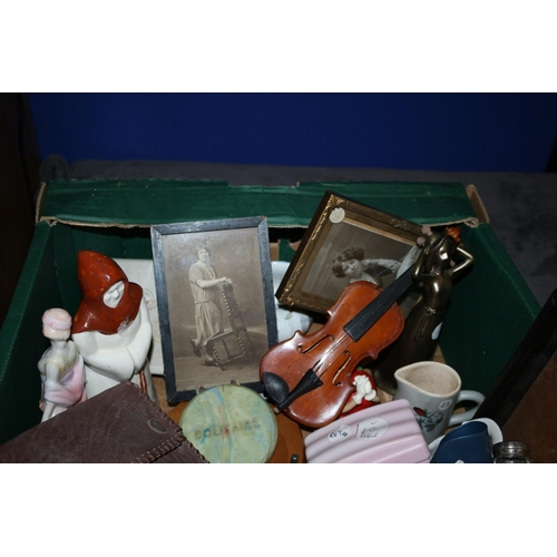 16 - Box of Interesting Items - including China Ware, Photo Frames,  Clocks and much more