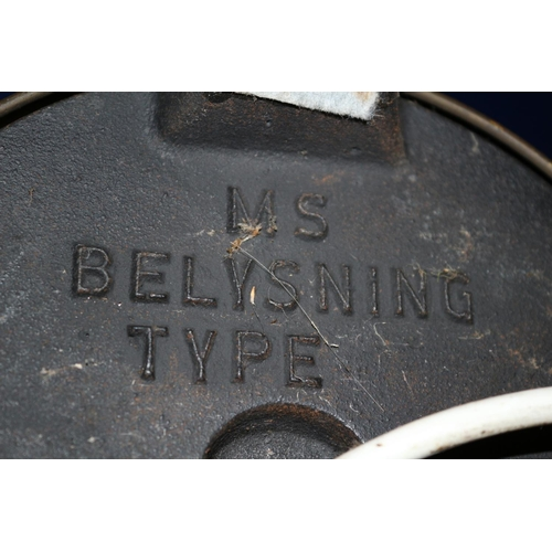 17 - Large 1950/60's MS Belysning Brass Lamp - untested