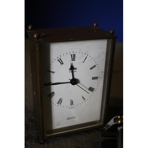 26 - 2 x Carriage Clocks plus a Fold Out Travel Clock