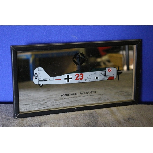 33 - Wall Mirror with Picture of a Focke-Wulf Fw 190A Aeroplane