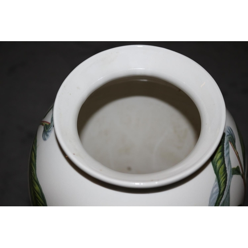 5 - Portmeirion Pomona Vase with Floral Design on it