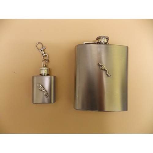 301 - 7oz Whisky Flask and 1oz Brandy Flask...