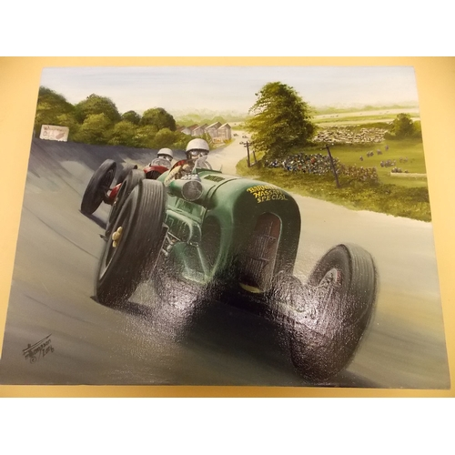 304 - Barnato Hassan Special on Brooklands Banking Painting...