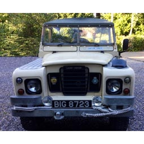 107 - 1972 Land Rover Series 3 Registration No: BIG 8723...