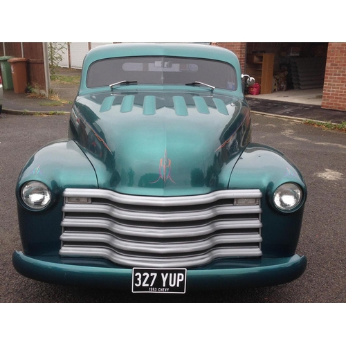 121 - 1953 Chevrolet Pick Up Registration No: 327 YUP...